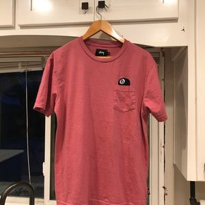 STUSSY 8-ball pocket T